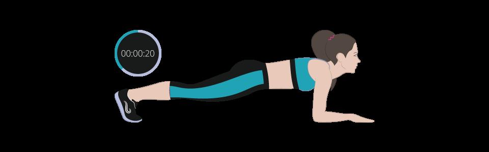 esercizi cellulite Plank