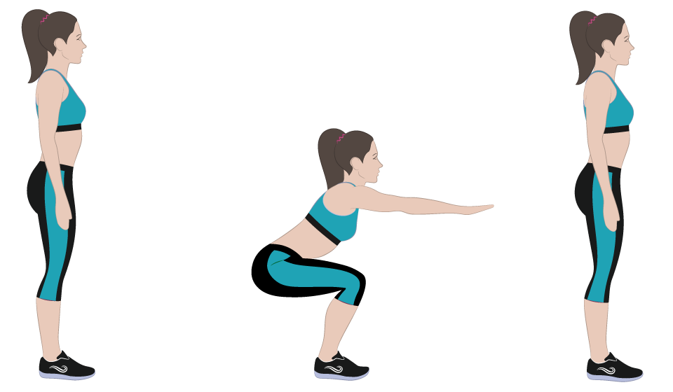 esercizi cellulite Squat